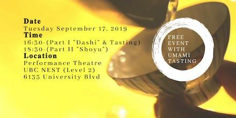 """Film Screening by UBC Older Wiser Learners : """"Dashi & Shoyu"""" tickets"""