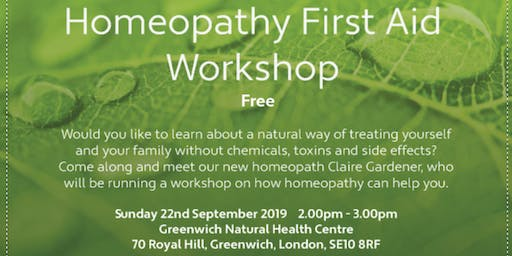 Homeopathy First Aid FREE Workshop