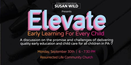 ELEVATE Early Learning for Every Child Discussion tickets