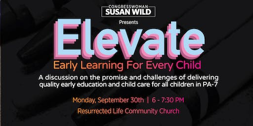 ELEVATE Early Learning for Every Child Discussion