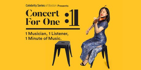 Concert for One: Boston tickets