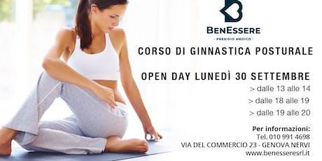Open day Gratuito: Corso di Ginnastica Posturale biglietti