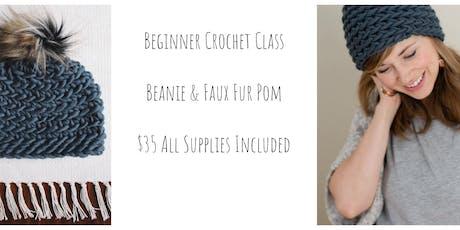 Beginner Crochet Hat Class for Adults tickets