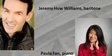 For The Love of Music-Paula Fan, piano and Jeremy Huw Williams, baritone