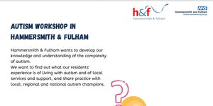 Autism Workshop In Hammersmith and Fulham