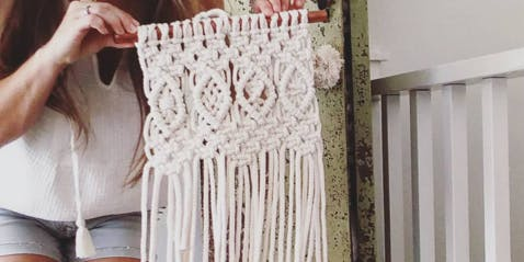 Macrame Wall Hanging Workshop: Detailed 4-Diamond Hanging