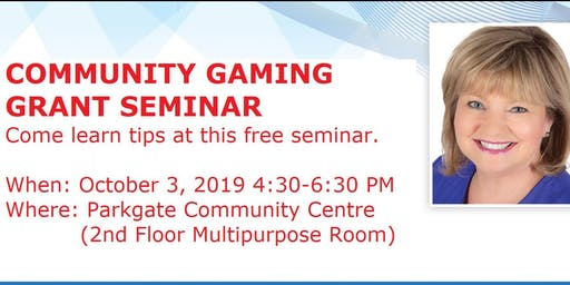 Community Gaming Grant Seminar