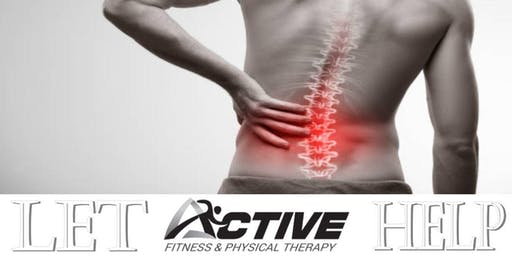 Free Low Back Pain Workshop - Hico Location