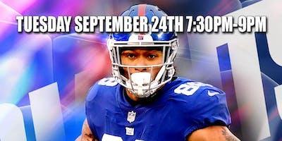 Evan Engram September 24 Vibe Tap & Grill Hazlet NJ