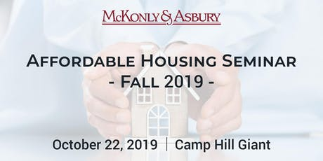 McKonly & Asbury's Fall 2019 Affordable Housing Seminar tickets