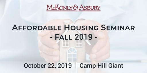 McKonly & Asbury's Fall 2019 Affordable Housing Seminar