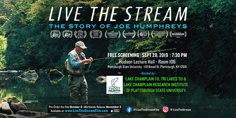 Live The Stream Screening -  by Lake Champlain & Tri-Lakes Trout Unlimited tickets