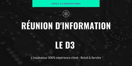 Le D3 - Réunion d'information - Appel à candidatures tickets