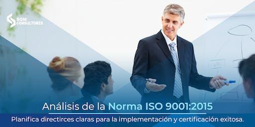 Curso Análisis e Implementación de la Norma ISO 9001:2015 - MTY