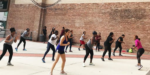 Fitness in the Kings Theatre Courtyard x Crunch Flatbush