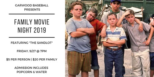 Garwood Baseball's Movie Night Fundraiser 2019