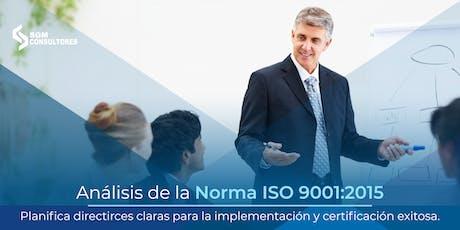 Curso Análisis e Implementación de la Norma ISO 9001:2015 - CDMX boletos
