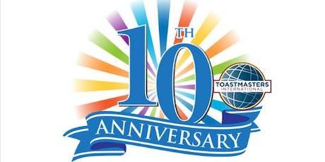 MI Toastmasters Club 10 Year Celebration tickets