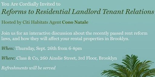 Join us September 26th for a discussion on new Rent Laws