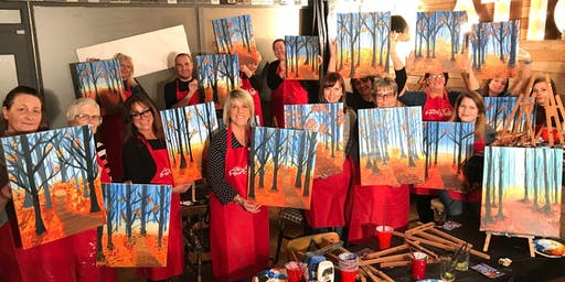 Autumn Stroll Brush Party - Newport Pagnell