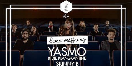 Saisoneröffnung mit Yasmo & die Klangkantine + Skinny B tickets