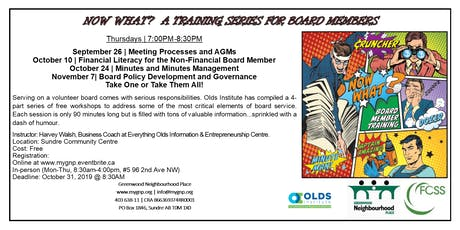 NOW WHAT! Training Series For Board Members (Policy Development & Governance) tickets