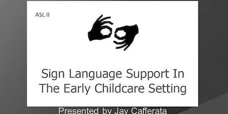 ASL II- Vocabulary Class tickets