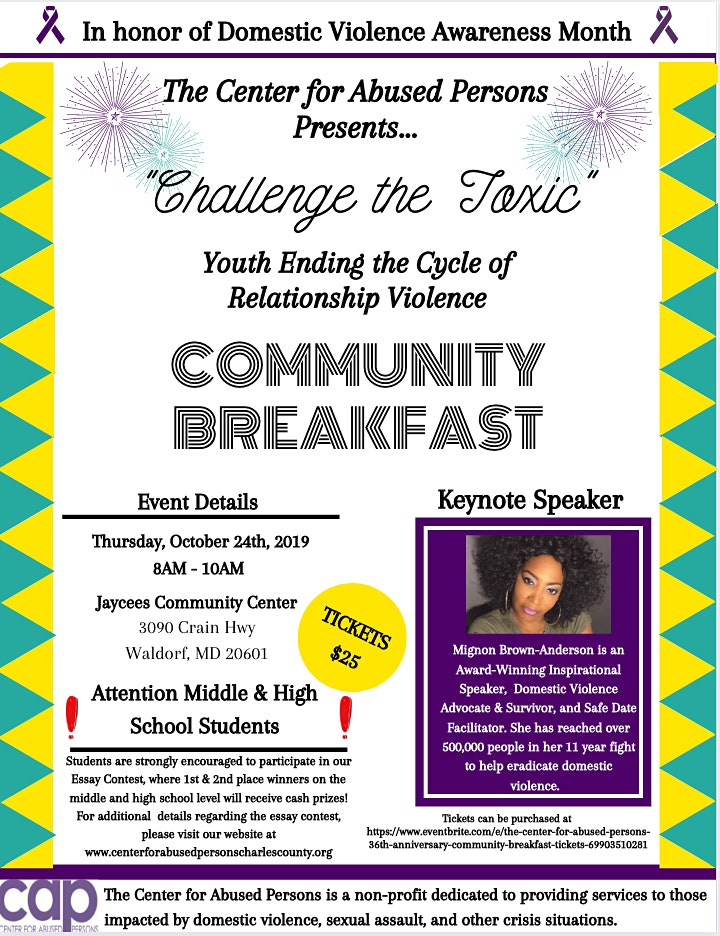 The Center for Abused Persons' Community Breakfast image