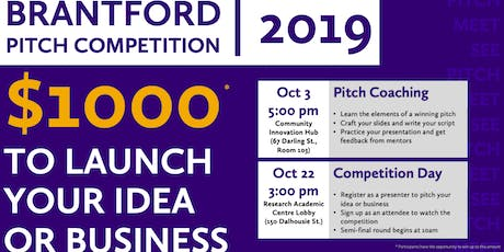 Brantford Pitch Competition 2019 tickets
