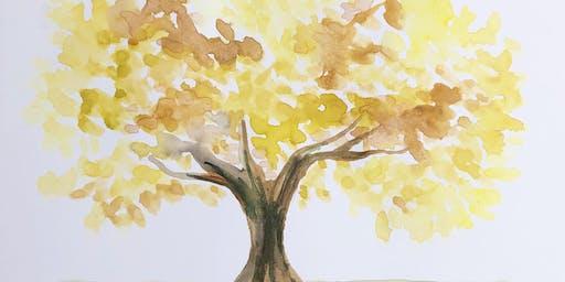 Kid's Fall Foliage Watercolor Workshop