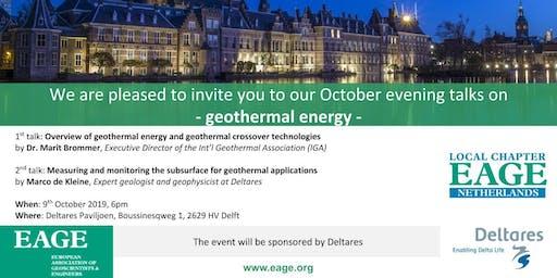 Evening talks on GEOTHERMAL ENERGY
