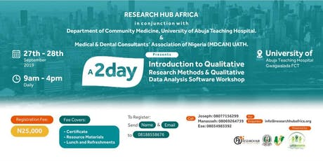 Qualitative Research Training Workshop, FCT tickets
