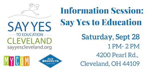 Information Session: Say Yes To Education Cleveland