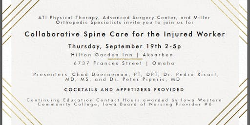 Collaborative Spine Care for the Injured Worker