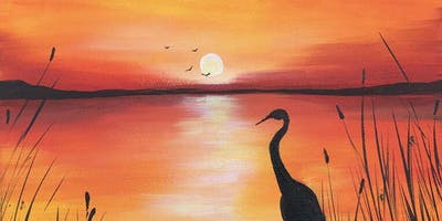 Sunset Serenity Brush Party - Cholsey