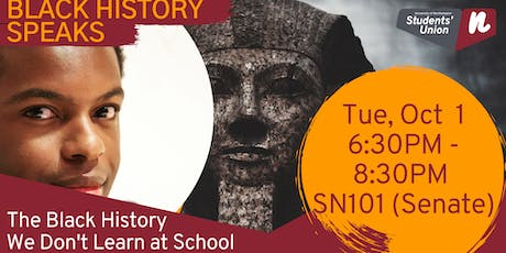 The Black History We Don't Learn at School - with Vice President BME Tré Ventour tickets
