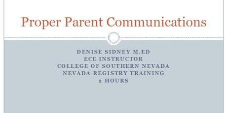 Positive Parent Communications tickets