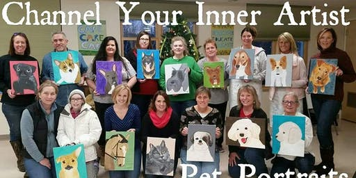 Channel Your Inner Artist - Pet Portraits -Fundraiser for HSWA 10/19/19
