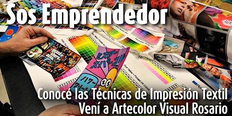 Técnicas de Impresión Textil |  Artecolorvisual - Rosario entradas