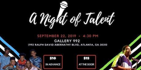 A Night of Talent by Rodney Iler Ministries tickets