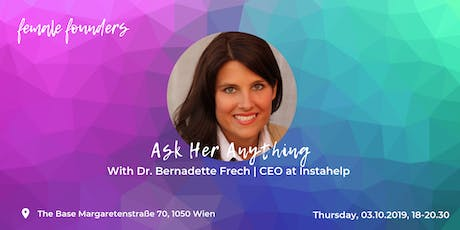 Ask Me Anything  with Bernadette Frech Tickets