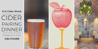 Finger Lakes Cider Week Pairing Dinner