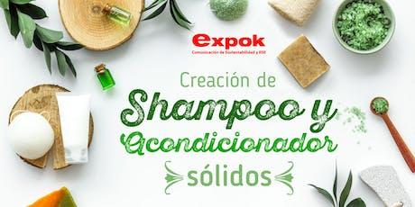 Taller de creación de shampoo y acondicionador sólidos. tickets
