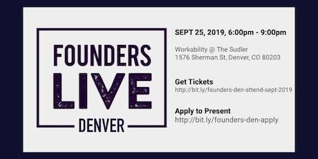 Founders Live Denver - Septmber 2019 tickets