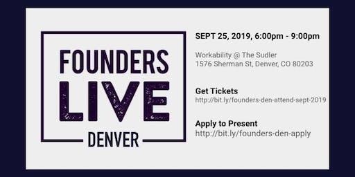 Founders Live Denver - Septmber 2019