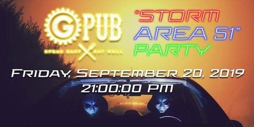 """Storm Area 51"" Party @ GPub"