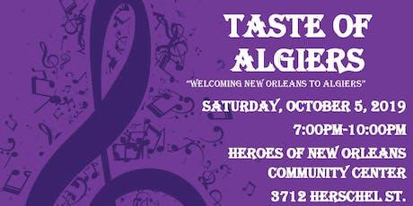 Taste of Algiers tickets