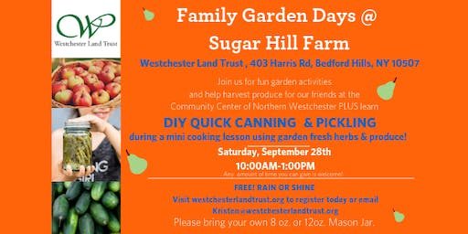 DIY Canning and Pickling @ Family Garden Days @ Sugar Hill Farm