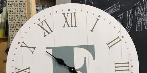 "24"" Wooden Clock Workshop"
