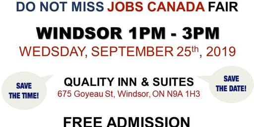 Windsor Job Fair – September 25th 2019, 2019
